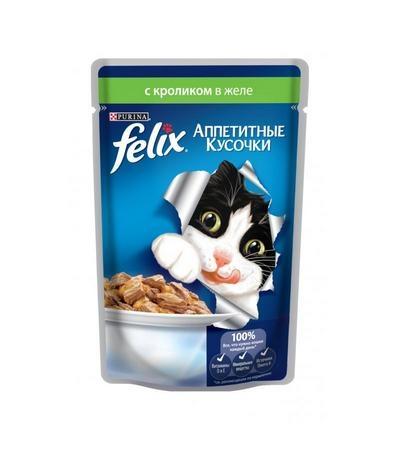 Felix Аппетитные кусочки, кролик  85 г
