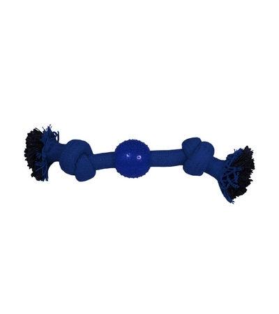 """Игрушка для собак """"Веревка-канат, 2 узла и мяч"""", 230мм"""