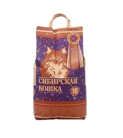 Наполнитель Сибирская кошка супер 10кг. комкующийся