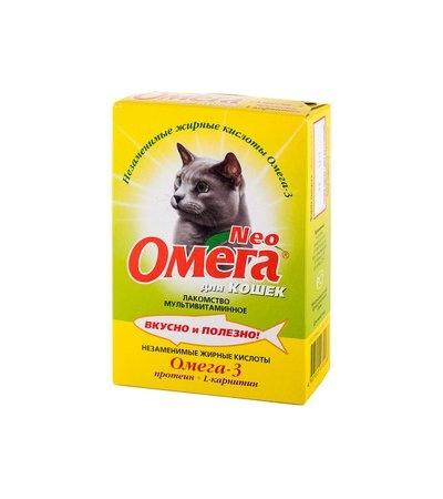 Омега Нео К-П для кошек протеин+карнитин уп.90 табл.
