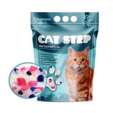 """Наполнитель Cat Step """"Лагуна"""" 3,8л (силикагель)"""