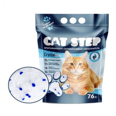 Наполнитель впитывающий силикагелевый CAT STEP Crystal Blue 7,6 л