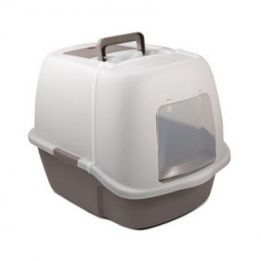 Туалет P900 для кошек закрытый (совок и сетка в комплекте), 513*388*433мм