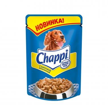 """Chappi влажный корм для собак """"Аппетитная курочка"""" 100г"""