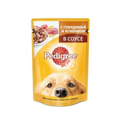 PEDIGREE® для взрослых собак всех пород с говядиной и ягненком в соусе 85г