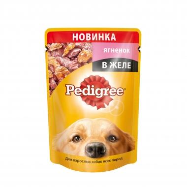 PEDIGREE® для взрослых собак всех пород с ягнёнком в желе 85г
