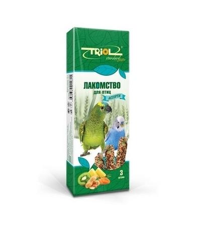 Лакомство Тriol Standard для птиц Ассорти (с фруктами, овощами и орехами) (уп. 3 шт), 75г