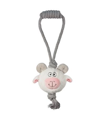 """Игрушка для собак  """"Барашек"""" с веревкой, 110/380мм"""