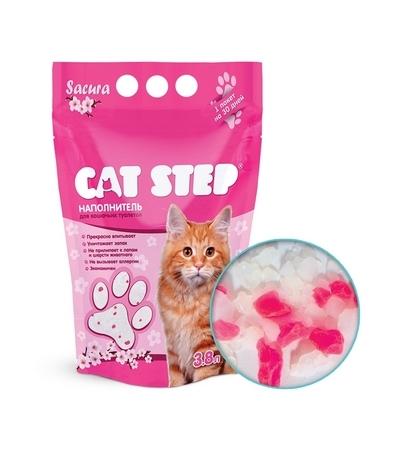 """Наполнитель Cat Step """"Сакура"""" 3,8л (силикагель)"""