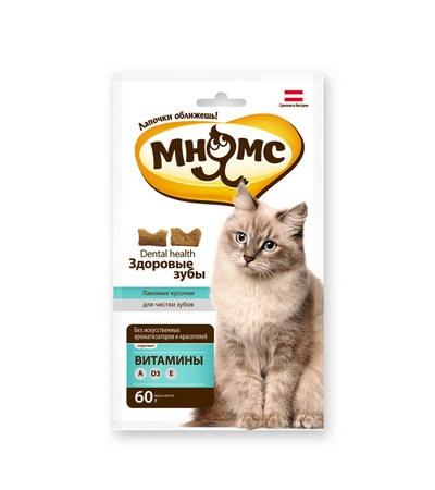 Зубное лакомство Дентал Мнямс для кошек 60г