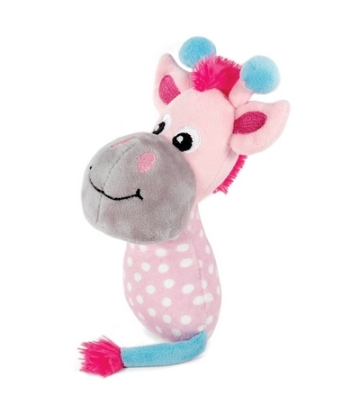 """Игрушка PUPPY для щенков мягкая """"Жираф в горошек"""" (розовый/голубой)165мм"""