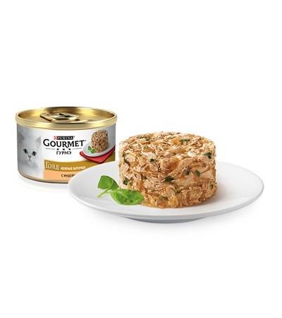 Gourmet (Гурмэ) Голд Нежные биточки  с индейкой и шпинатом 85г