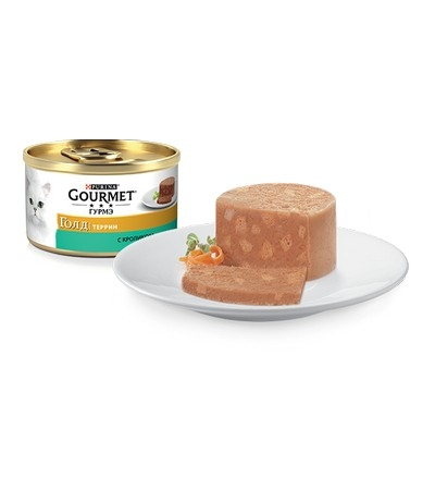 Gourmet (Гурмэ) Голд Террин с кроликом 85г
