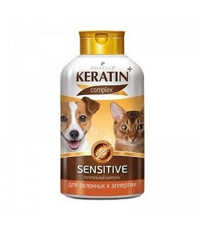 Шампунь KERATIN +Sensitive д/кош.и соб. аллергичных 400мл