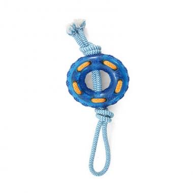 """Игрушка для собак из термопласт. резины """"Кольцо с верёвкой"""" 120/320мм"""