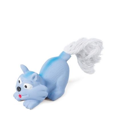 """Игрушка MINI DOGS для собак мелких пород из латекса """"Котенок с веревкой"""", 75/165мм"""