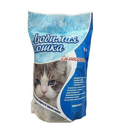 Наполнитель Любимая кошка силикагель 5л