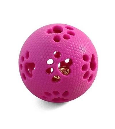 """Игрушка для собак из термопласт. резины """"Мяч-лапки"""", d70мм"""