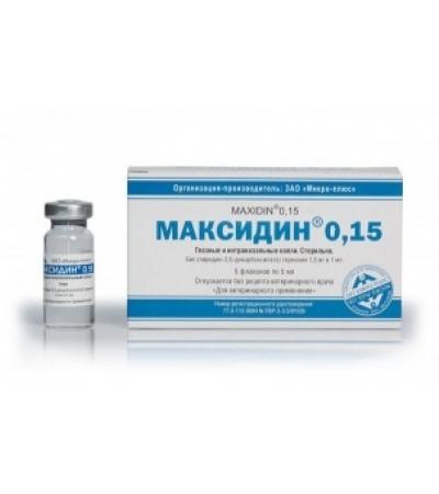 Капли глазные Максидин 0,15% 5 мл, 1 флак.