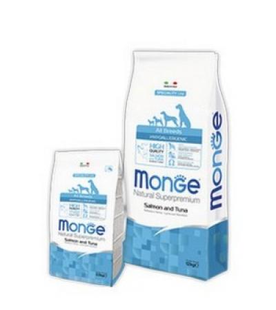 Monge dog all breeder adult hip. лосось/тунец 1кг (упаковка 12кг)