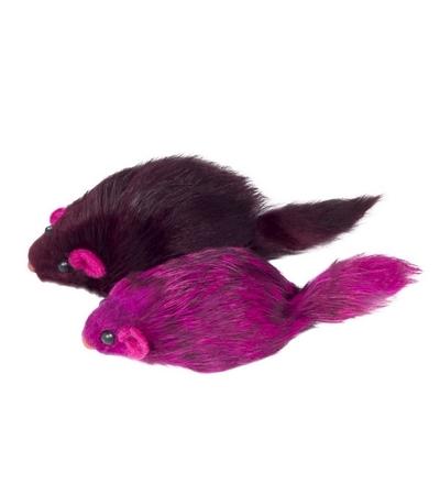"""Игрушка M003C для кошек """"Мышь цветная"""", 70-75мм"""