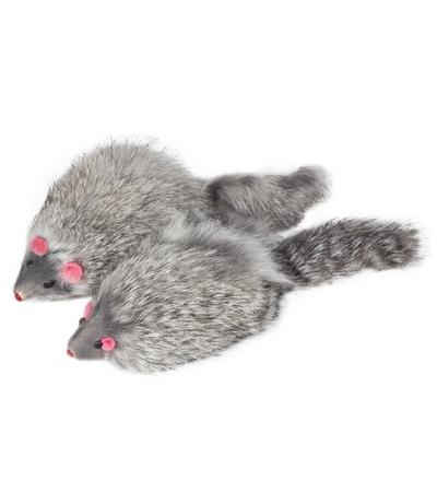 """Игрушка M004G для кошек """"Мышь серая"""", 90-100мм"""