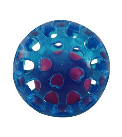 """Игрушка для собак из термопласт. резины """"Сфера с шариком"""", d65мм"""