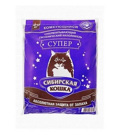 Наполнитель Сибирская кошка супер 20кг. комкующийся