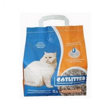 Наполнитель Сибирская Кошка Catlitter 5л впит.