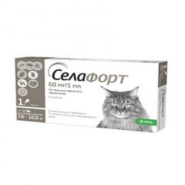 Селафорт для кошек 7,6-10кг 6% 1*60мг/1мл