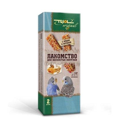 Лакомство для волнистых попугаев с медом и хитином, 55г