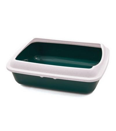 Туалет CT04 для кошек прямоугольный с бортом, 505*390*150мм