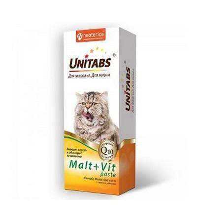 Юнитабс Мальт+вит паста с таурином для кошек 120 мл