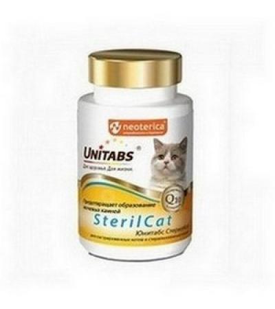 Юнитабс для кошек SterilCat с Q10 120т