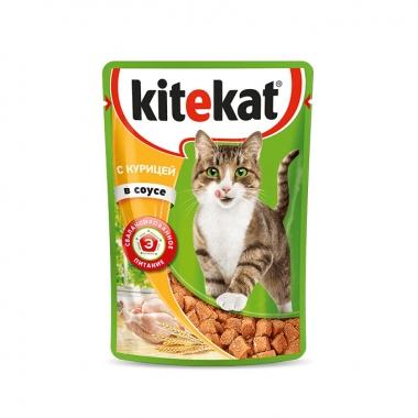 Консервы Kitekat для Кошек с Курицей в Соусе 85г