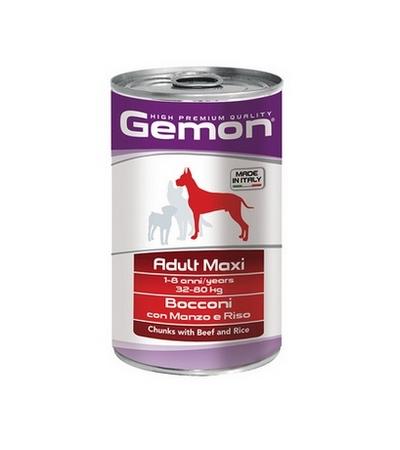 Gemon Dog Maxi Adult говядина с рисом для крупных пород 1250г