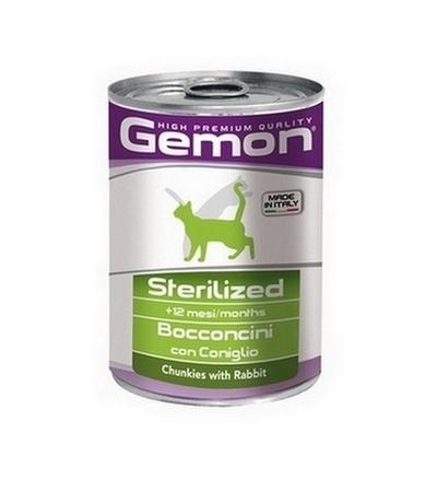 Gemon Cat sterilized кусочки кролика для стерил. кошек 415 гр