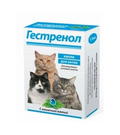 Гестренол капли для котов с кошачьей мятой 1,5 мл