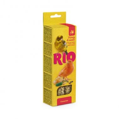 RIO Палочки для канареек с медом и полезными семенами 2х40г