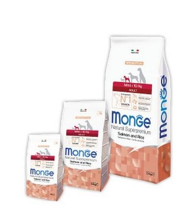Monge Mini Adult Dog лосось 1кг (упаковка 7,5кг)