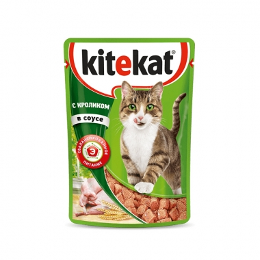 Консервы Kitekat для Кошек с Кроликом в Соусе 85г