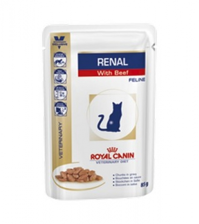 Renal beef cat pouch 100g