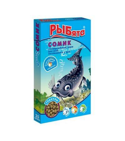 Корм для рыб РЫБята Сомик гранулы 35г+сюрприз